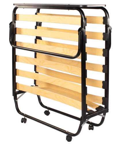 Раскладушка Отель-премиум КР-1005 (раскладная кровать на ламелях с матрасом) 2000х900х340 120кг