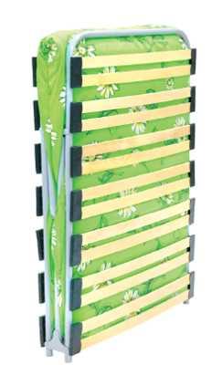 Раскладушка Лателия М1000 КР-08ЛМ1000 (раскладная кровать на ламелях с матрасом) 2020х800х315 150кг