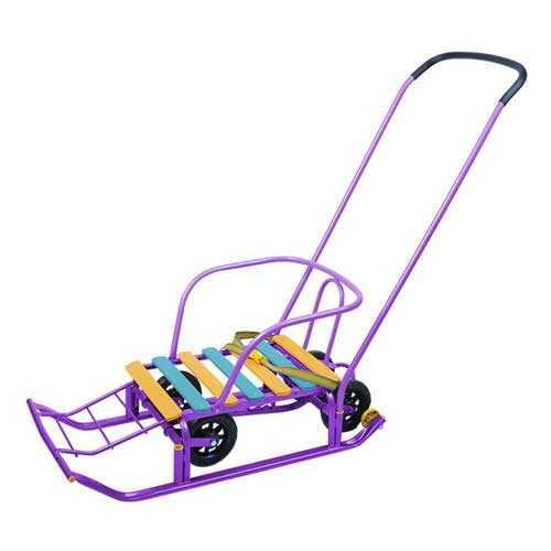Санки детские Тимка-5 Универсал Т5У СН сиреневый каркас, выдвижные колесные шасси