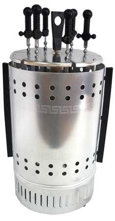 Электрошашлычница (шашлычница) Пикник ЭШВ-1,25 220-01-Ц (цветн.уп-ка, 6 осн.+ 6 доп.шампуров, 1250Вт)
