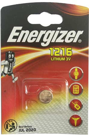 Батарейка Energizer (литиевая) CR1216-BL1 3V (1 шт. в уп.)