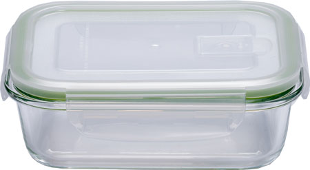 ELEY Контейнер стеклянный прямоугольный ELP2402G 630 мл (крышка с вентиляционным клапаном)