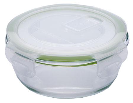 Eley Контейнер стеклянный круглый ELP2801G 390 мл (крышка с вентиляционным клапаном)