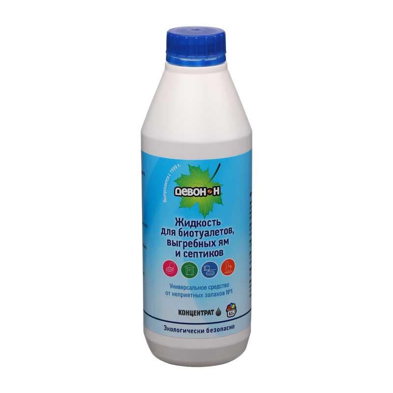 Жидкость-расщепитель Девон-Н 0.5л. (для биотуалетов, выгребных ям, удаления запахов и загрязнений)