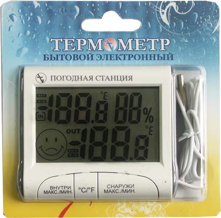 Метеостанция ТЭ-4 (термометр электронный комнатный) в блистере