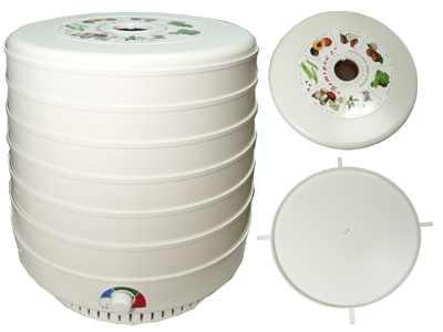 Сушилка для овощей и фруктов Ветерок-2 (электросушилка 6 белых поддонов диам.39см + поддон для пастилы)