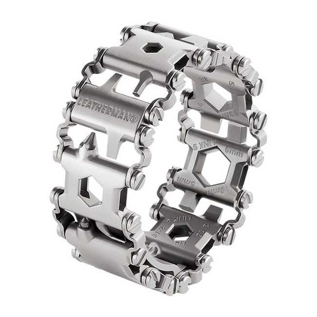 Мультитул в виде браслета Leatherman Tread Stainless Steel, 29 функций, серебро (832325)