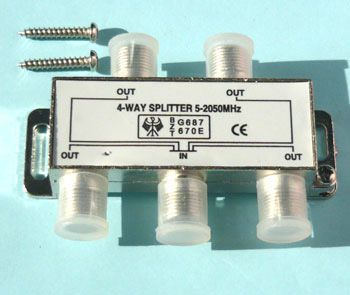 ТВ сплиттер ( VIDEO SPLITTER) 4 way 5-2050 МГц (CN-7073B)