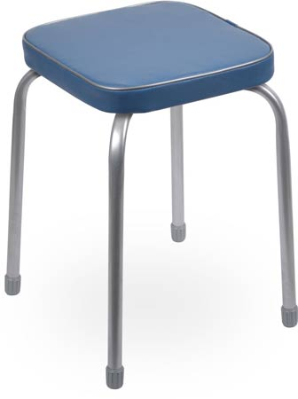 Табурет Ника Фаворит ТФ03 (голубой) на 4-х опорах, сиденье квадрат 320х320мм, винилискожа