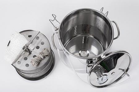 Коптильня для горячего копчения Аромат КНГ-14 14л , нержавеющая сталь