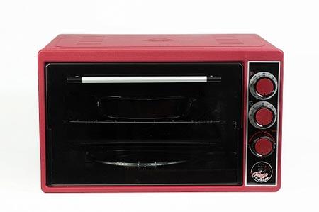 Духовка электрическая Чудо пекарь ЭДБ-0123 1500ВТ, 39л, 3 режима работы, таймер, красная