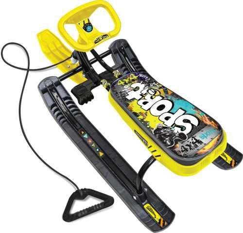 Снегокат детский Тимка Спорт 2 ТС2 ГЖ2 (рисунок-Граффити желтый, черный каркас)