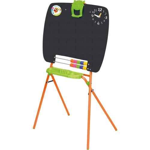 Мольберт детский односторонний Ника М (цвет каркаса-Оранжевый) для рисования мелками
