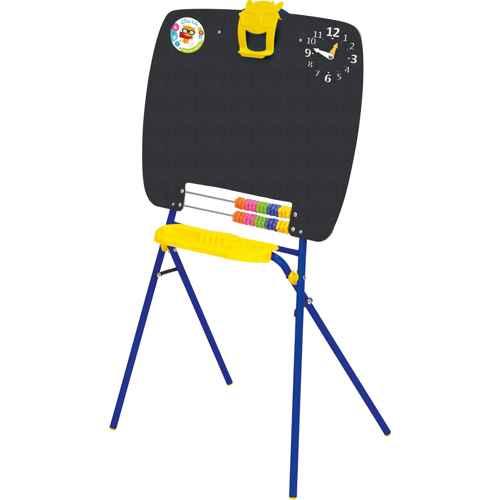 Мольберт детский односторонний Ника М (цвет каркаса-Синий) для рисования мелками