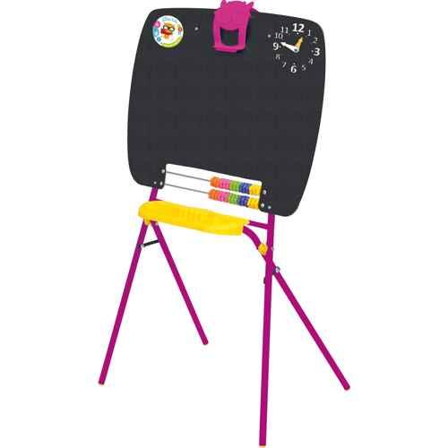 Мольберт детский односторонний Ника М (цвет каркаса-Сиреневый) для рисования мелками