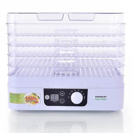 Сушилка для овощей и фруктов Magnit RDH-2422 (электросушилка 5 прозрачных поддонов) 300Вт, таймер