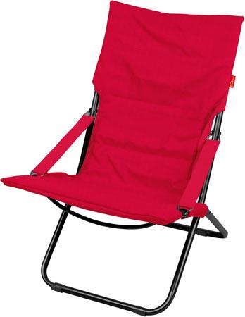Кресло-шезлонг складное с матрасом Ника Haushalt HHK4 R Цвет-Винный (Красный)