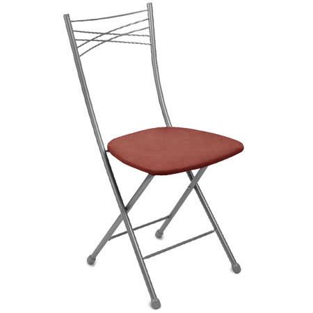 Стул складной со спинкой Ника 1 ССН1 3 сиденье коричневое, каркас серый