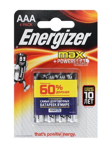 Батарейка Energizer Max (AAА) LR03-BL4 1.5V (4 шт. в уп.)