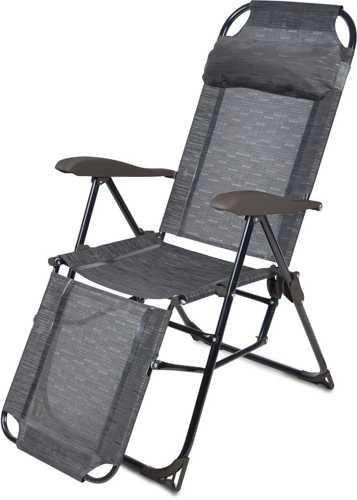 Кресло-шезлонг складное Ника КШ3 5 цвет-венге