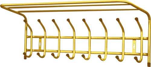 Вешалка настенная с полкой Ника ВП8 (8 крючков, 800х238х268мм) цвет-золотой
