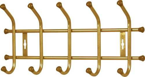 Вешалка настенная Ника ВНТ5 (5 крючков, 480х215мм) цвет-золотой