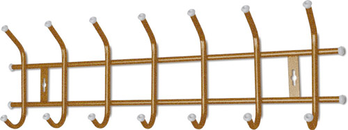Вешалка настенная Ника ВНТ7 (7 крючков, 680х215мм) цвет-золотой