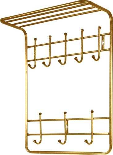 Вешалка настенная Ника ВПТ8 (8 крючков, 600х745х250мм) цвет-золотой