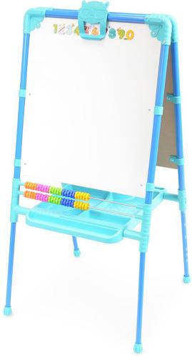Мольберт детский двусторонний Ника М2Л Г Растущий (цвет каркаса-Голубой) с большим пеналом и магнитной азбукой