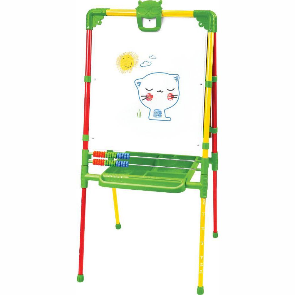 Мольберт детский двусторонний Ника М2Л СФ Растущий (цвет каркаса-Светофор) с большим пеналом и магнитной азбукой