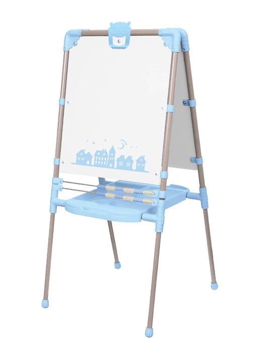 Мольберт детский двусторонний Ника М2Р 1 Растущий Ретро (голубой) с большим пеналом