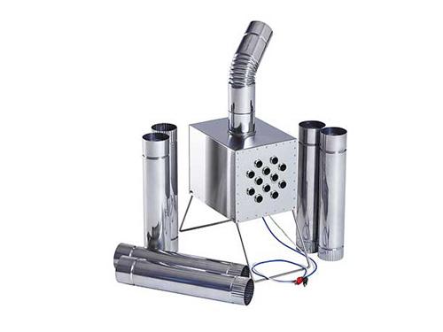 Теплообменник для палатки Вектор-ВУ 355х170х275 увеличенный с вентилятором, нержавеющая сталь, сумка