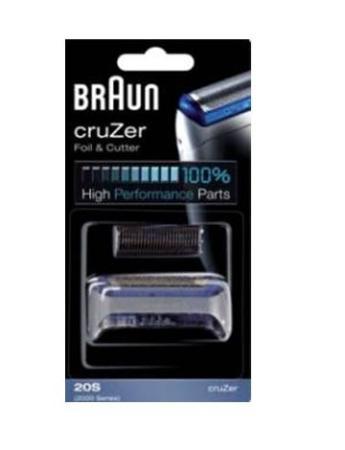 20S Сетка Braun cruZer 2000series в сборе + нож (20S) тип 81253250 (5733762)
