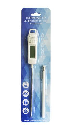 Термометр TP-400 Стеклоприбор цифровой со щупом (-50 до +300C, диаметр щупа 3.5 мм)