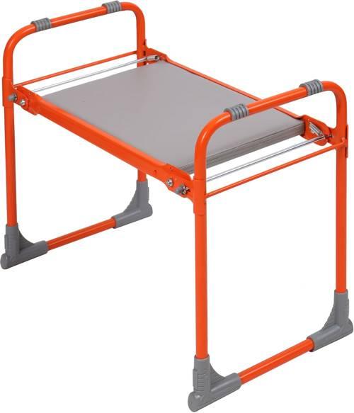 Садовая скамейка-перевертыш Ника складная с мягким сиденьем СКМ О (оранжевый каркас)