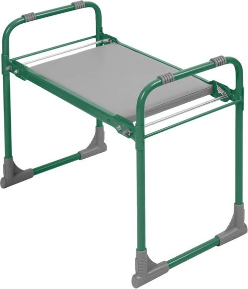 Садовая скамейка-перевертыш Ника складная с мягким сиденьем СКМ З (зеленый каркас)