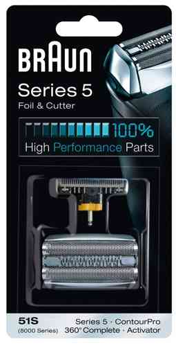 51S Сетка Braun 360 Complete 8000series в сборе+нож (51S) тип 81253272 (5646761)