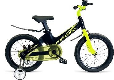 Детский велосипед FORWARD COSMO 14 черный зеленый 14 Алюминий 1 ск. RBKW9L6F1007