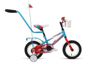Детский велосипед FORWARD METEOR 12 бирюзовый красный мат. 12 Сталь 1 ск. RBKW9LNE1002