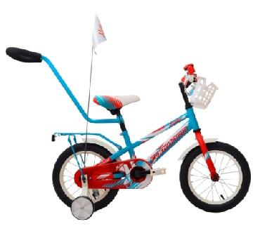 Детский велосипед FORWARD METEOR 14 бирюзовый красный мат. 14 Сталь 1 ск. RBKW9LNF1003