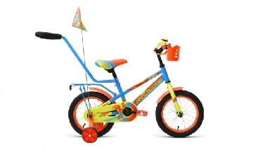 Детский велосипед FORWARD METEOR 14 голубой зеленый 14 Сталь 1 ск. RBKW9LNF1004