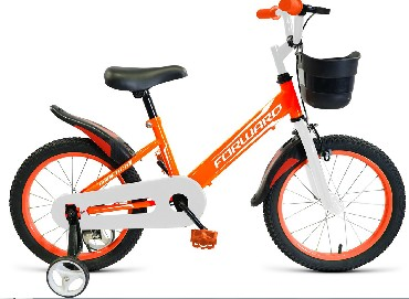 Детский велосипед FORWARD NITRO 14 оранжевый белый 14 Сталь 1 ск. RBKW9LNF1020