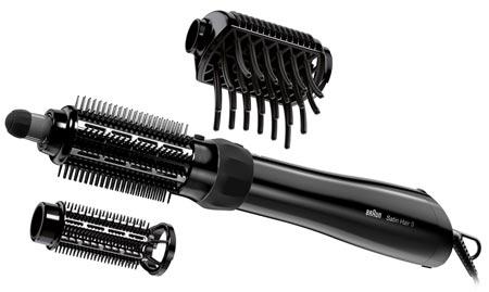 Braun Steam and Style Pro ASS 1000 AS530 фен-щетка, 1000Вт, черная (2 насадки)