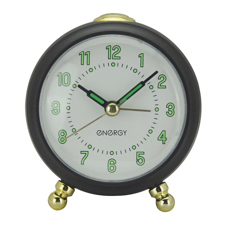 Настольные часы-будильник Energy EA-05, черные (009504)