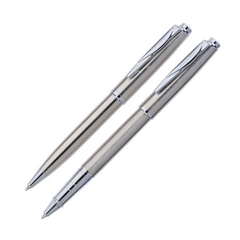 Набор подарочный Pierre Cardin Pen and Pen-Steel, ручка шариковая + ручка роллер (PC0918BP RP)
