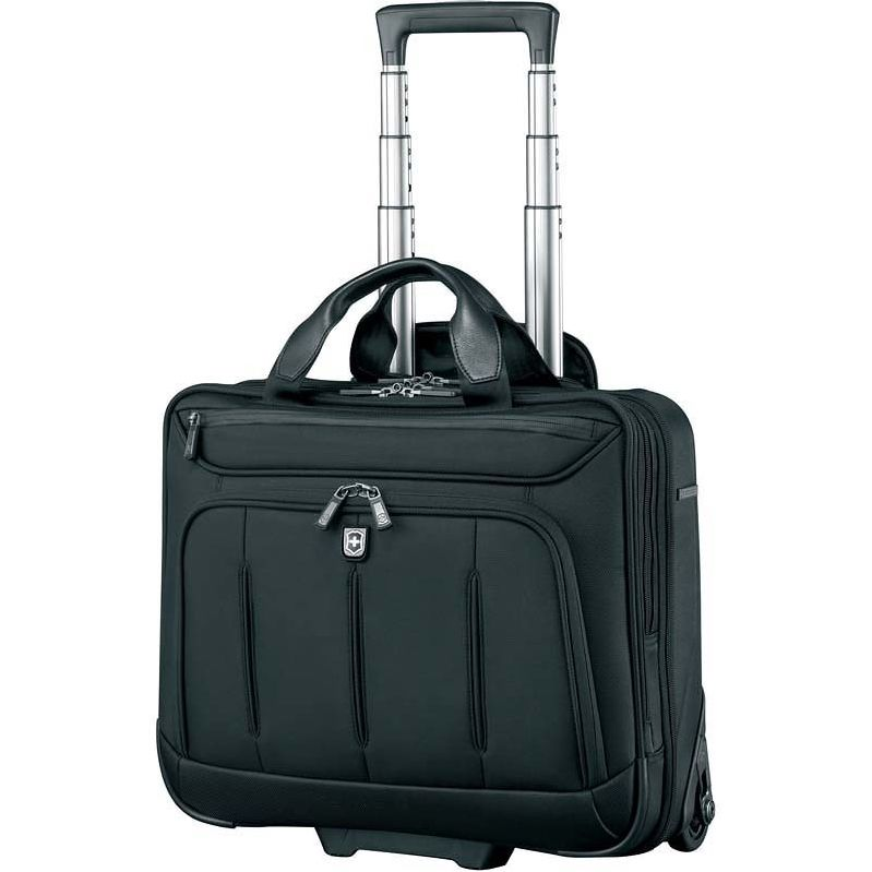 Сумка на колесах Victorinox VX One Briefcase 15,6 , черный, 42x21x40 см, 35 л (600612)