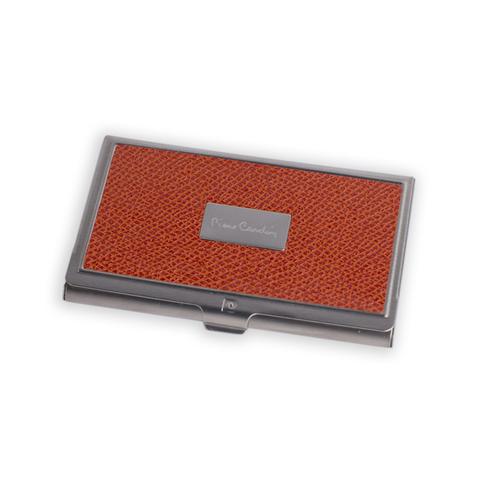 Визитница Pierre Cardin, оранжевая, искуств.кожа + металл (PC1139orange)