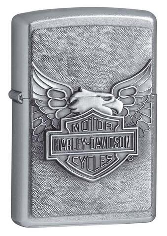 Зажигалка Zippo Harley-Davidson, латунь сталь с покрытием Street Chrome, серебристая, 36x12x56 мм (20230)