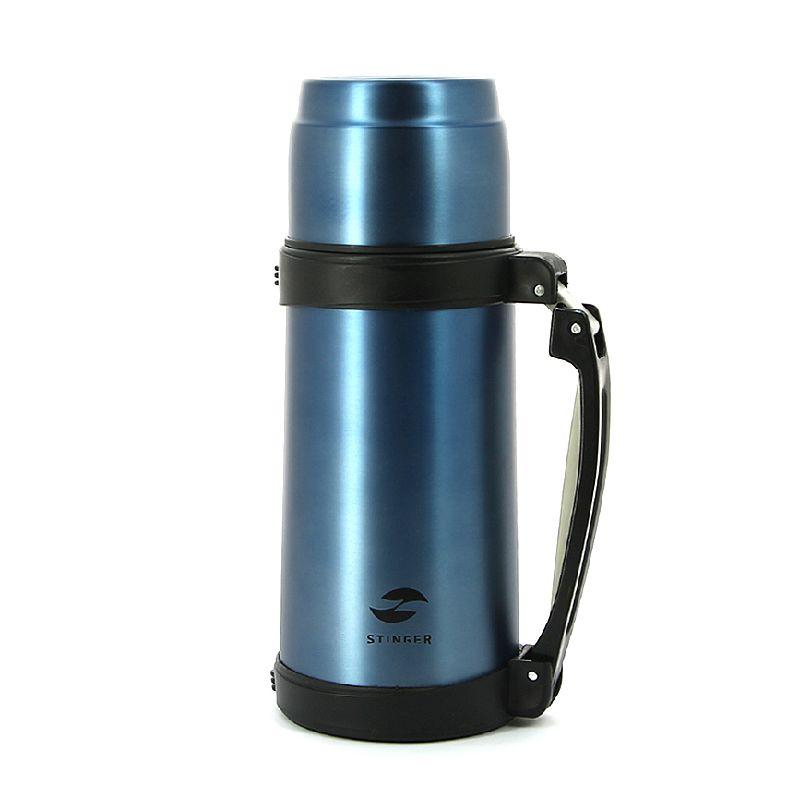 Термос Stinger (0,8 литра), с ручкой, синий (HY-TP205-1)