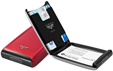 Визитница c защитой Tru Virtu Razor, красный , 104x68x20 мм (16.10.1.0001.05)